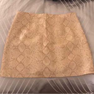 River Island neutral snake print skirt 